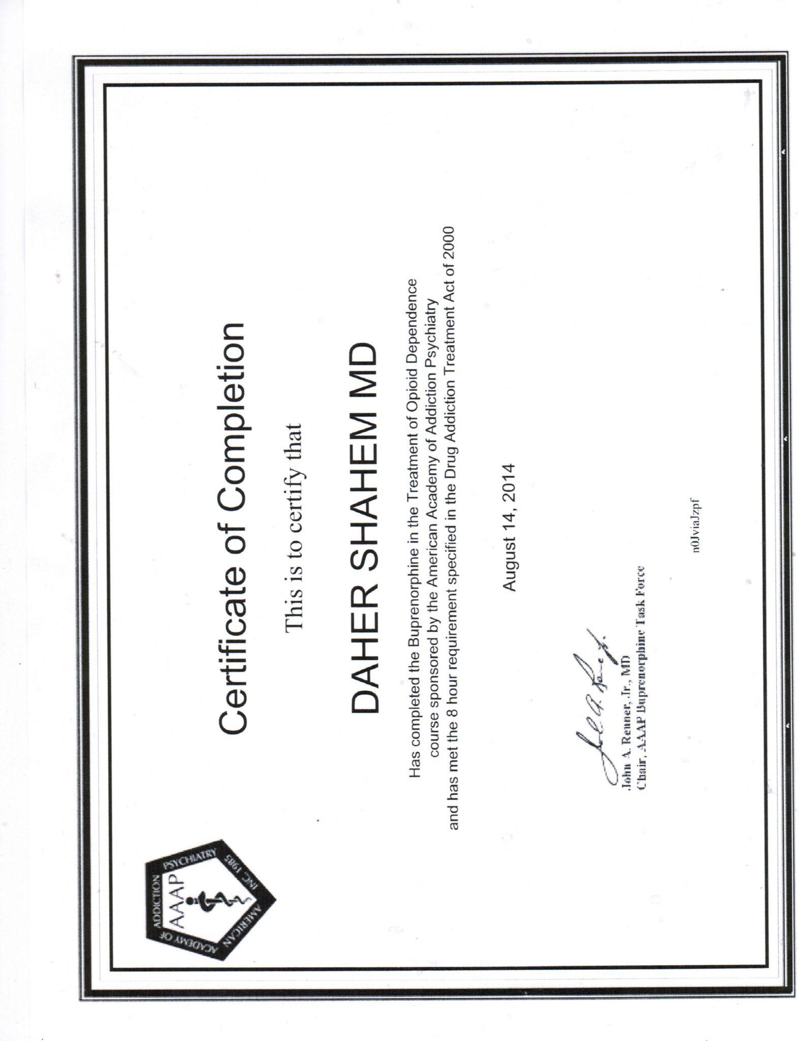 drug rehab completion certificate training certificate